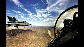 Захватывающие кадры. Истребитель в полете вид из кабины пилота.