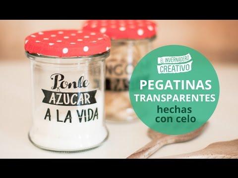 Cómo hacer pegatinas transparentes - How to do transparent stickers