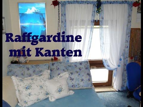 DIY Raffgardine mit Kanten abgesetzt; selber nähen, erklärt
