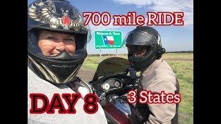 RIDING HARD 700 miles: OK / TX / NM - Day 8