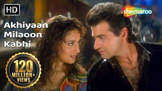 Akhiyaan Milaoon Kabhi | Raja Songs | Madhuri Dixit | Sanjay Kapoor | Udit Narayan | Alka Yagnik