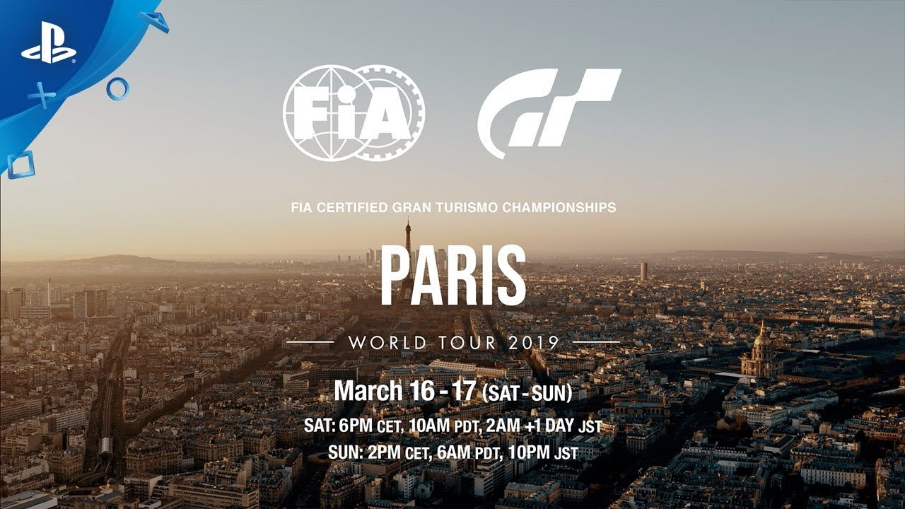 2019 FIA Gran Turismo Championships Begin This Weekend in Paris