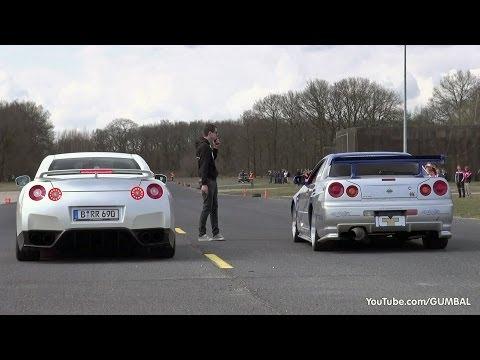Nissan Skyline GT R34  vs Nissan GT-R