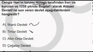 Türk- İslam Devletleri Çıkmış Sorular - KPSS | Yeni videolar için abone olabilirsiniz