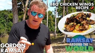Are Gordon Ramsays Chicken Wings Spicy Enough For The Hot Ones? | Ramsay Around The World