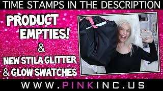New Product Empties Video! + New Stila Glitter & Glow Swatches