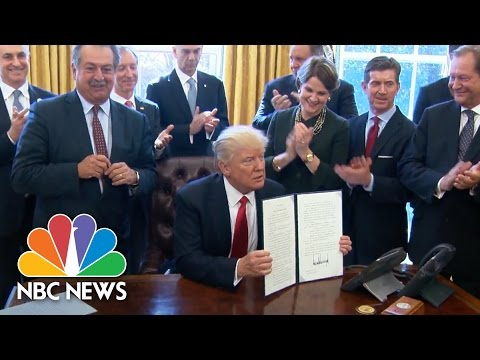 President Trump Signs Executive Order To Create Regulatory Reform Task Forces | NBC News