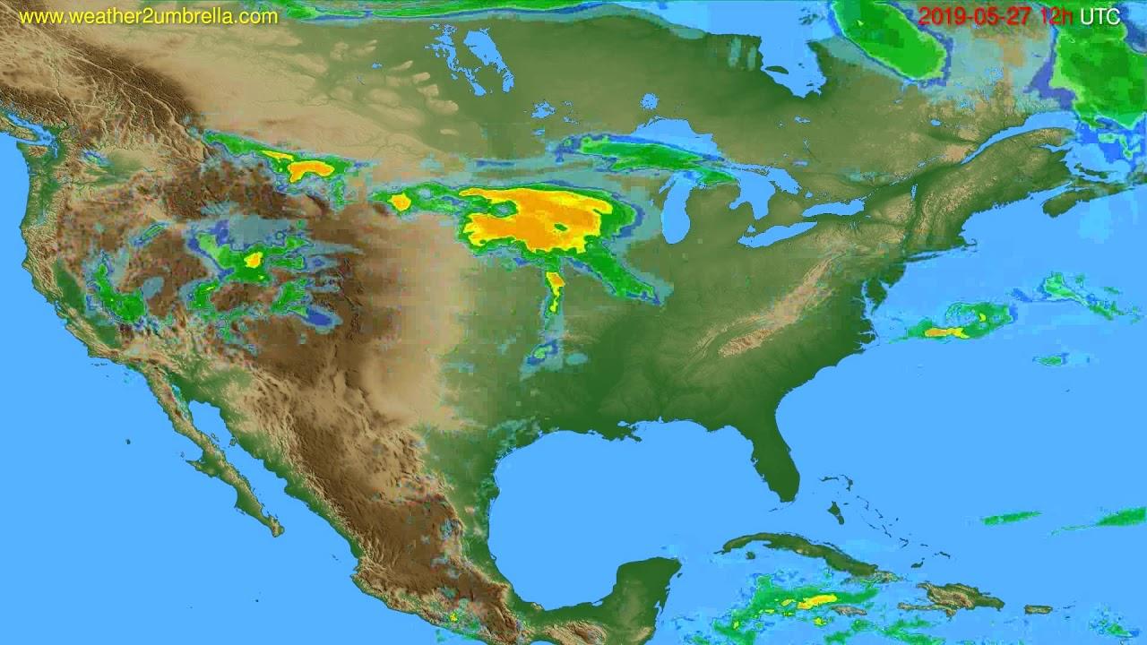 Radar forecast USA & Canada // modelrun: 00h UTC 2019-05-27