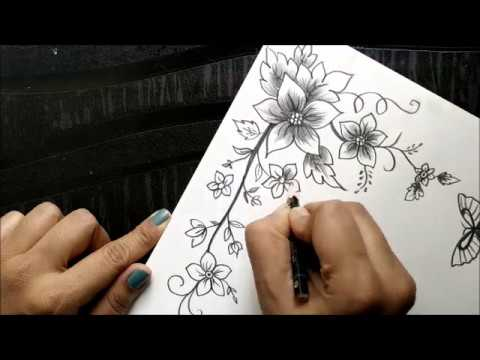 How To Make A Greeting Card With Pencil Sketch Version-5