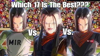 Xenoverse 2 Character Test! Ranger 17 Vs. Super 17 Vs. Android 17! Which 17 Is The Best!??