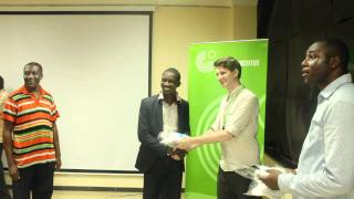 preview picture of video 'eco j-hub awards and press conference at Goethe Institute Nigeria'