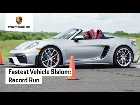 Setting a World Record for Fastest Vehicle Slalom in a Porsche