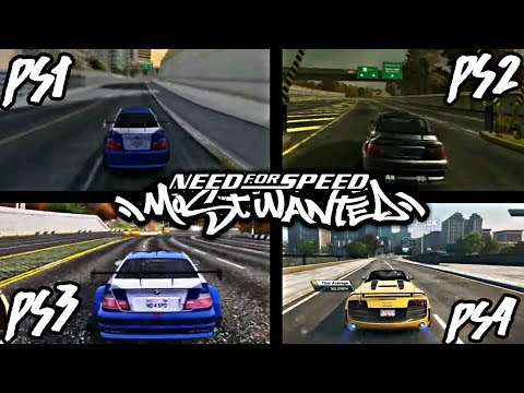 NEED FOR SPEED MOST WANTED PS1 VS PS2 VS PS3 VS PS4