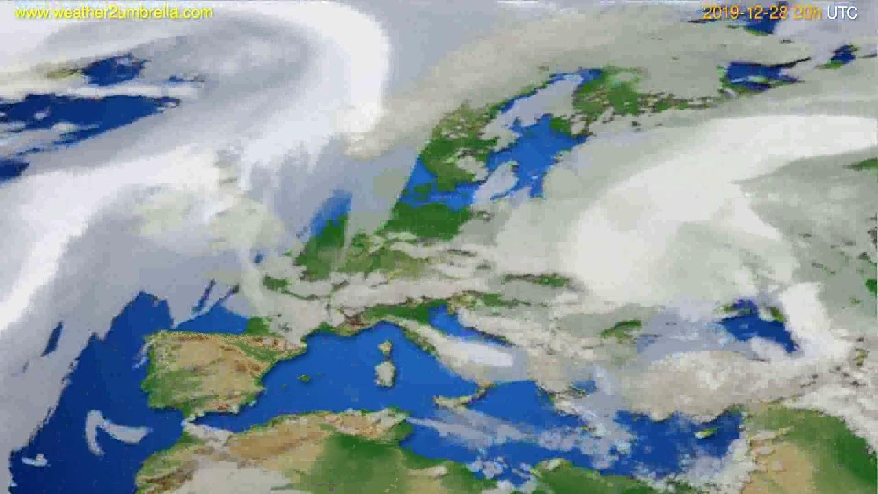 Cloud forecast Europe // modelrun: 00h UTC 2019-12-27