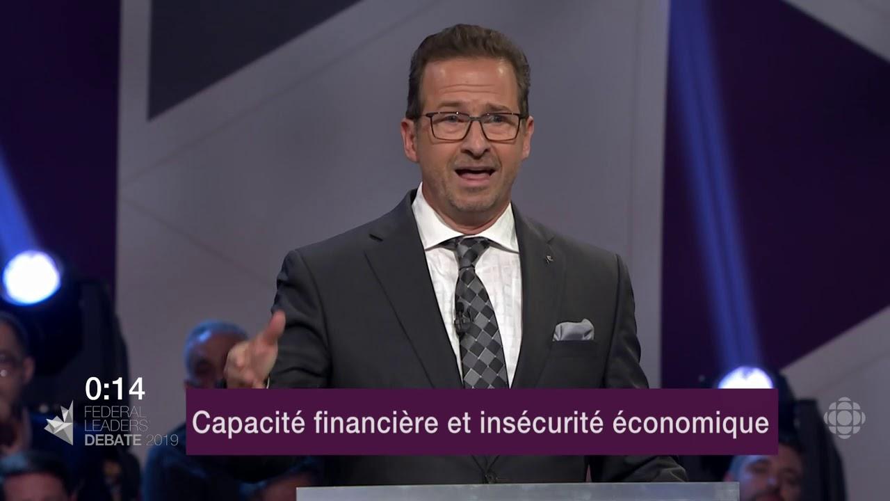 Yves-François Blanchet répond à une question sur les inégalités de revenu et le coût de la vie