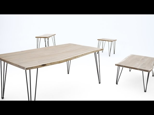 Video: RENO Solid acacia wood dining table 82.5''