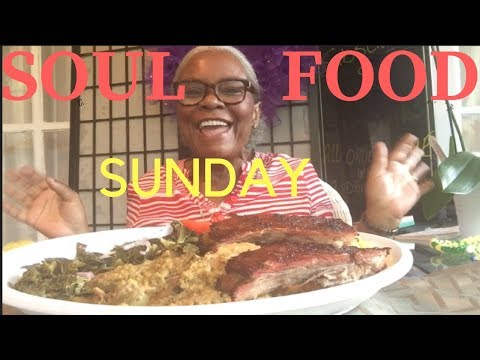 SOULFOOD SUNDAY DINNER |SMOKED BBQ RIBS | CHICKEN AND DRESSING | GREENS | MAC N CHEESE | RECIPE