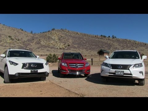 2013 Lexus RX 350 vs Mercedes GLK vs Infiniti FX37 0-60 Mashup Review