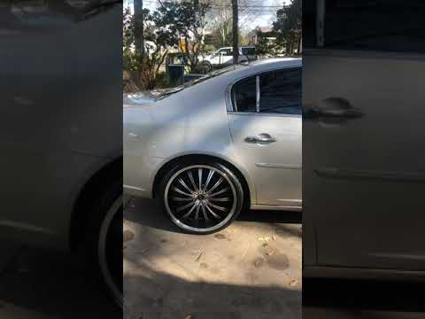 Buick Lucerne 22 inch Dip Wheels W/Red Caliber Paint