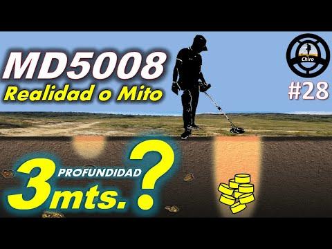 PROFUNDIDAD DETECTOR MD5008 PRUEBA REAL EN CAMPO - IDEAL PARA BUSQUEDA DE TESOROS