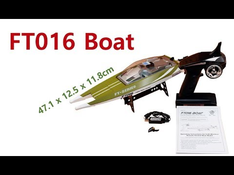 FT016 boat unboxing and how to turn on!!