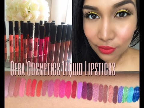 Long Lasting Liquid Lipstick by ofra #8