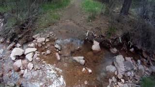 Creek crossings on the southwest side of the Falcon Loop