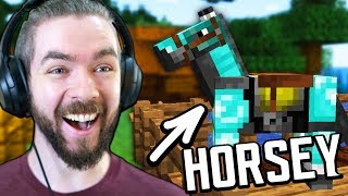 Putting DIAMOND Armor On My New Horse In Minecraft
