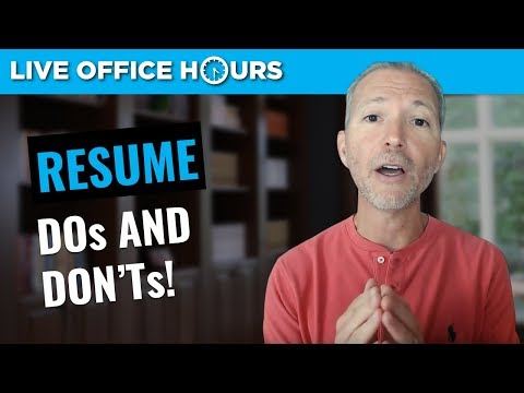 Resume Writing Dos and Don'ts: Live Office Hours with Andrew LaCivita