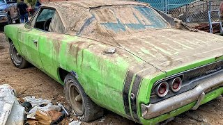 Abandoned Dodge Charger 1968. Abandoned American Muscle Car. Unique vehicles