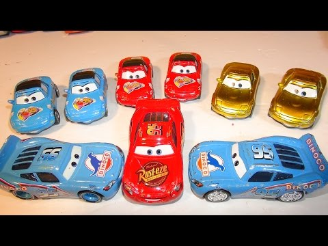 Disney Pixar Cars Dinoco Lightning McQueen And Jerry Recycled Batteries From The Pixar Cars Characte