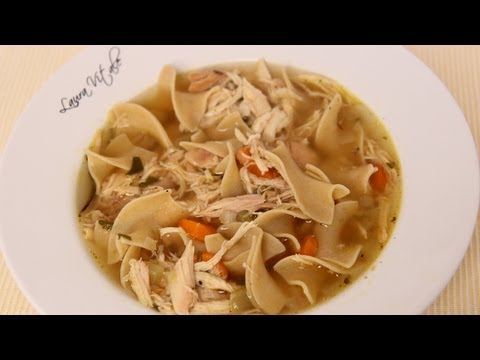 Homemade Chicken Noodle Soup Recipe – Laura Vitale – Laura in the Kitchen Episode 463