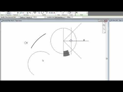 Como hacer una pared o una viga curva en Revit