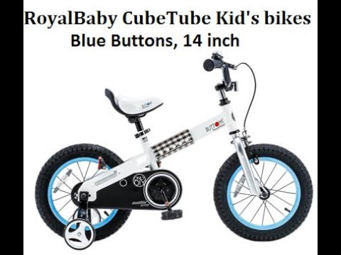 RoyalBaby CubeTube Kid's bikes, 14 inch in Blue Buttons - Best Kids Ride on Toys