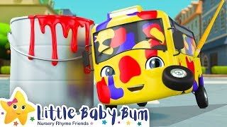 Learn Colors with Buster the Bus! | +More Kids Songs | Nursery Rhymes | Little Baby Bum