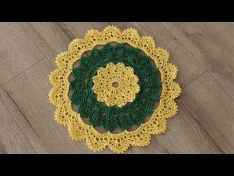 How to Crochet A Thal Posh / Thal Cover / Table Top