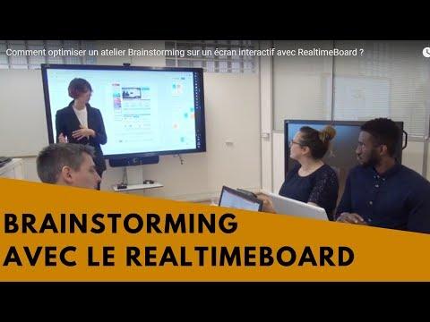 Comment optimiser un atelier Brainstorming sur un écran interactif avec RealtimeBoard ?