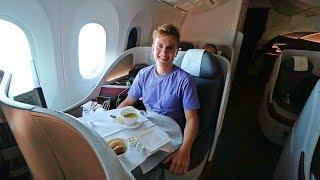 Qatar Airways 787 Business Class Review   World's Best Airline 2017