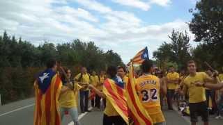 preview picture of video 'Bastoners d'Oló a la Via Catalana'