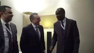 Rencontre entre les ministres des Affaires étrangères d'Arménie et de Rwanda