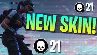 NEW TWITCH PRIME SKIN! 21 Kill Solo Gameplay (Fortnite Battle Royale)