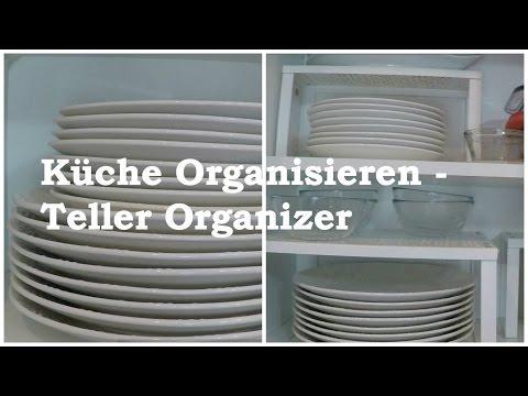 Küche Organisieren - mit einem Tellerregal