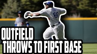 MLB: Throws To First From Outfield (HD)