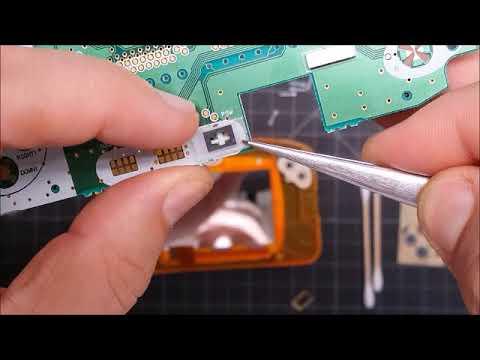 WonderSwan Color Crystal button repair