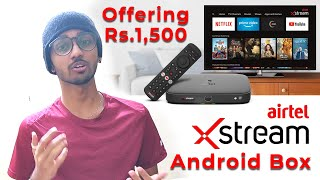 Airtel Xstream Android Box with 1 Month Pack | Rs.1500 | TECHBYTES