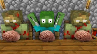 Monster School : ZOMBIE LIFE CHALLENGE - Minecraft Animation