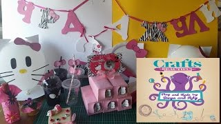 How To Make Party Accessories Hello Kitty . Handmade Birthday Items . Learn And Play Part 2