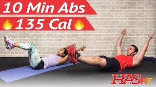 10 Minute Ab Workout at Home - 10 Min Abs Workout for Men & Women - Ten Abdominal Exercises by HASfit