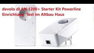 devolo dLAN 1200+ Starter Kit Powerline Einrichtung  Test im Altbau-Haus