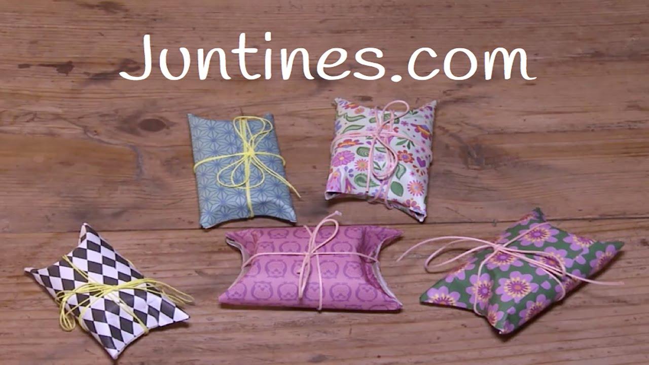 Envoltorios para regalos, manualidad con rollos de cartón de papel higiénico